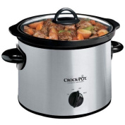 NEW Crock-Pot SCR300SS 2.8l Round Manual Slow Cooker Stainless Steel