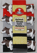 Gourmet Chef Animal Shaped Corn on the Cob Holders, 4 Pairs