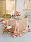 Choose Your Sizes ~130cm *130cm Rose Gold Sequin Tablecloth Ready to Ship. Sparkly Sequin Chevron Tablecloth for Party Xmas Gift Events Bridal Shower Events~m95