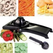 Prima Professional Mandoline Slicer Julienne Cutter Chopper Fruit Vegetable Veg Peeler Black