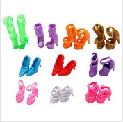 Lanlan 10 Pairs of Doll Shoes, Fit Barbie Dolls