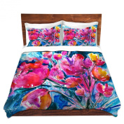 Duvet Cover Brushed Twill Twin, Queen, King SETs from DiaNoche Designs by Kathy Stanion Colourful Blooms Unique Home Decor and Designer Bedding ideas