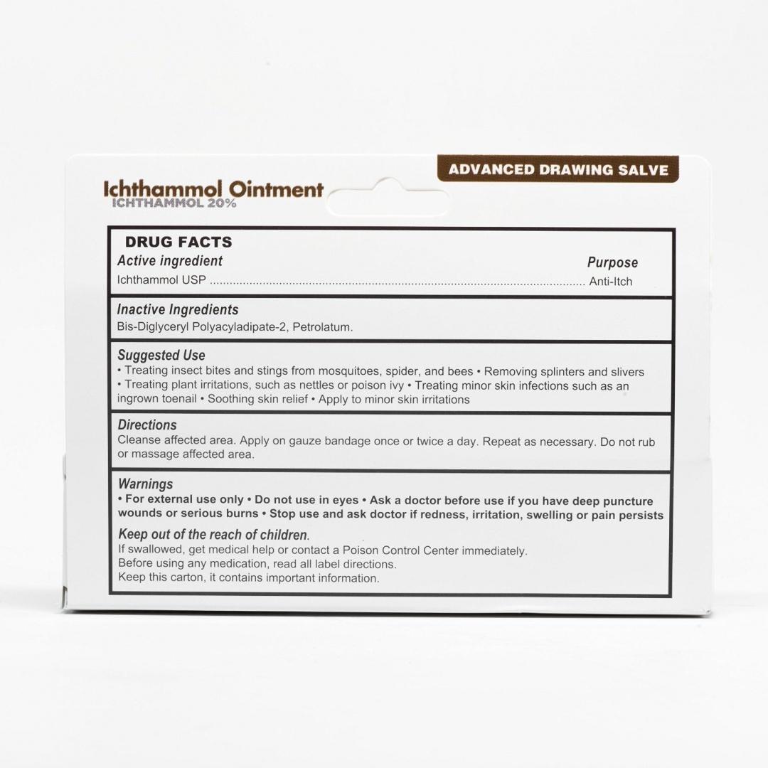 Ichthammol Ointment 20%, (Drawing Salve) 30ml Tube (28 3g) Pharmaceutical  Grade****