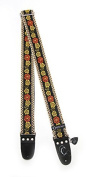 Guitar Strap; Wild Flower 5.1cm by Capturing Couture