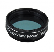 Gosky 1.25 Crystalview Moon Filter for Telescope Eyepiece - Standand 3.2cm Filter Thread - Metal Frame - Optical Glass - Enhance Lunar Planetary Views - Eliminate the Street Light Smog
