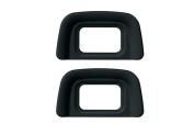 CEARI [2 Pack] DK-20 Rubber Eyecup Eyepiece Viewfinder for Nikon D3000 D3100 D3200 D5100 D60 D50 D40 D40X DSLR Camera + MagicFiber Clean Cloth