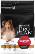 Purina PRO PLAN Dog Medium Adult with OptiHealth Rich in Chicken Dry Food - 3 kg