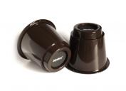 Slipstick CB650 13cm Extra Storage Under-Bed Risers (set of 4) Chocolate Colour
