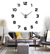 Reliable_E® Large Mirror Wall Clock Modern Design for Home Decor