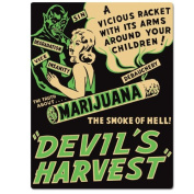 Devil'S Harvest Emb Tin Sign