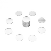 Mini 2.5cm Inch Small Round Glass Mirror Circles for Arts & Crafts Projects, Travelling, Framing, Decoration, Magnets (50 Pieces) by Super Z Outlet®