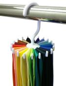 Rotating Tie Rack Adjustable Tie Hanger Holds 20 Neck Ties Tie Organiser for Men
