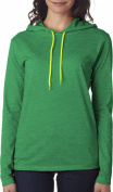 Anvil Ladies Ring Spun Cotton Long Sleeve Hooded T-Shirt