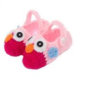 FuzzyGreen® Cute Owl Baby Newborn Infant Girl Boy Hand Knitting Crochet Pre Walker Toddler Buckle Shoes Socks Booties-Pattern 1+Gift