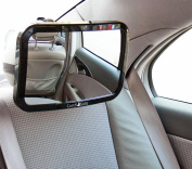 Baby Car Mirror for REAR-FACING Carseat by Comfi-Safe,Easy-to-Instal,Clear-view, Wide-angled Top Quality & Shatterproof-The Perfect Gift!