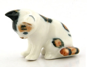 3 D Ceramic Toy Cat sitting No. 2 Dollhouse Miniatures Free Ship