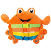 "BUCKLE TOY ""Barney"" Crab - Toddler Early Learning Basic Life Skills Children's Plush Travel Activity"