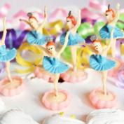 Ballerina Cake Topper (6 Count) - Blue
