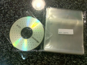 100 Pcs 4 7/8 X 4 7/8 Clear CD/DVD Sleeves - Non Paper