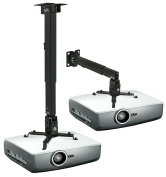 Mount-It! MI-604 3-In-1 Universal LCD / DLP Video Projector Wall or Ceiling Mount with Extendable Pole, Carrying Capacity of 20kg, Fits compatible with  compatible with  compatible with  compatible with  compatible with  compatible with  compatible with E