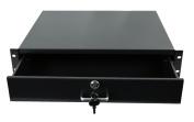 Rack Mount DJ 48cm Rack Case Equipment Deep Drawer 2U 2 Space Locking Lockable