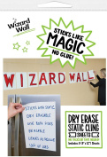 Wizard Wall Dry Erase, Reusable Static Cling Sign Sheets, 5 Pack, 24cm x 30cm , White