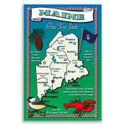 MAINE STATE MAP postcard set of 20 identical postcards. Post cards Made in USA.