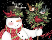 Lang Snowman And Friends Boxed Christmas Card by Susan Winget, 5.375 x 6.875, 18 Cards and 19 Envelopes