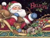 Lang Believe Santa Boxed Christmas Card by Susan Winget, 5.375 x 6.875, 18 Cards and 19 Envelopes