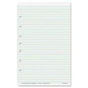 Day-Timer Desk Size Multipurpose Lined Page - 48 Sheet - Narrow Ruled - 14cm x 22cm - 1 / Pack - White Paper