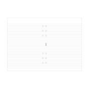 Filofax A5 Ruled White Note Pad