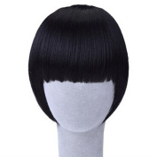 Women Clip On/In Neat Bang Straight Fake Fringe For Bob Hair Style