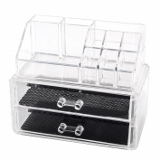 Pro Acrylic Makeup Lipstick Display Stand Holder Cosmetic Storage Multilayer Organiser with Drawers