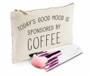 Sanfran - Today's Good Mood Is Sponsored By Coffee Make-Up Bag