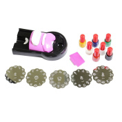 Nail Art Stamping Machine with 5 Templates & 7 Nail Polish Colours by Kurtzy TM
