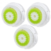 3x E-Cron® Brush Heads. Replacement for Clarisonic Acne Facial Cleansing. Compatible with Mia 1, 2, 3(Aria), SMART Profile, Alpha Fit, Plus, Sonic Radiance.