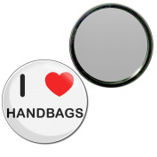 I Love Handbags - 55mm Round Compact Mirror