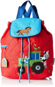 Stephen Joseph Quilted Backpack Farm