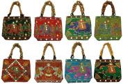 Silkroude Women's Indian Vintage Hand Bag Christmas 10 Pcs Lot