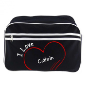 Modern Retro Bag with I Love Cathrin Black