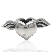 925 STERLING HEART BEAD CHARM
