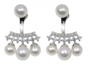 Lustrous - Cluster White Pearl Drop Earrings