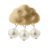 Lustrous - Gold Cloud Pearls Pendant