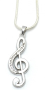 Lovely Musical Note NECKLACE - Music Is What Feelings Sound Like