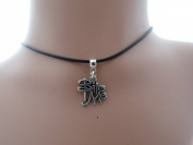 Adjustable 2mm wax cord Choker With a Antique Silver Bite Me Charm