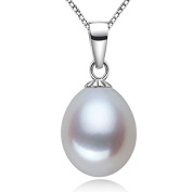 AAAA Quality Freshwater Pearl in 925 Sterling Silver Pendant Necklace + Free Freshwater Pearl Studs