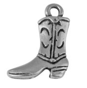 """RAYHER Metal Pendant """"Boots"""", 17 MM, Eyelet 1.5 MM in Diameter Old Silver"""
