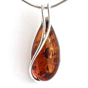 GENUINE BALTIC AMBER STERLING SILVER 925 PENDANT. KAB-128