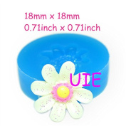 073LBH Cute Flower Silicone Flexible Push Mould Mould 18mm - Cupcake Decoration Resin Sugarcraft Mould, Soap Mould Food Safe