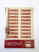 christmas cake bunting kit by east of india